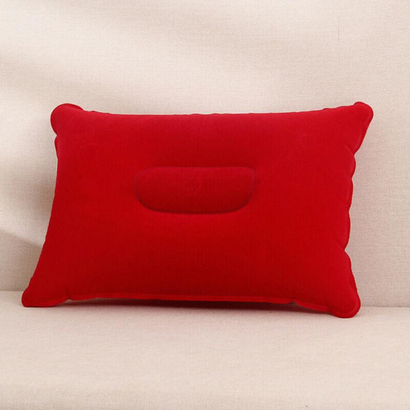 Inflatable PVC And Nylon Pillow Soft Air Blow Up Sleep Cushion Camping Tour Kissen Camping Angeln Backpacking Travel Air Cushion