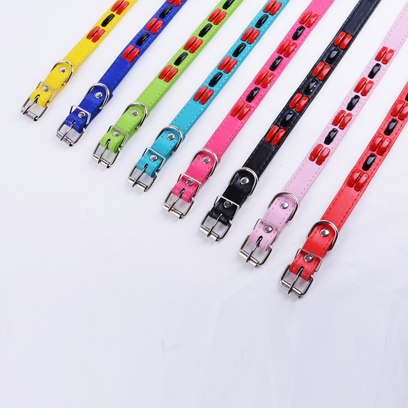 2017 New Style Color Pet Collar Dog Neck Ring Pet Fashion Neck Ring Pet Supplies Wholesale