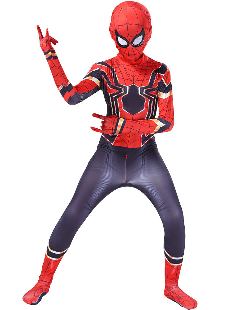 spider costueme man fantasia miles morales zentai costumes white Man For kids Cosplay Suit Red And Black Adult Men's boy costume 3