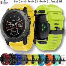 BEHUA Sports Silicone Quick Release Watchband For Garmin Fenix 5X 3 HR Replacement Easyfit bracelet wristStrap