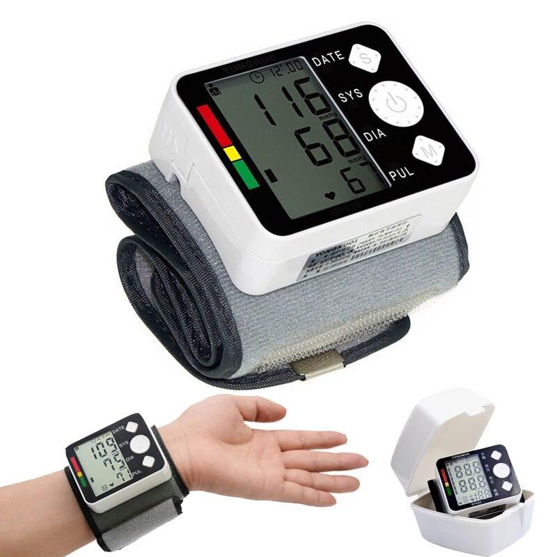 Gesundheit pflege automatische handgelenk blutdruck meter monitor tester blutdruck maschine Blutdruckmessgerät manschette medizinische Tonometer