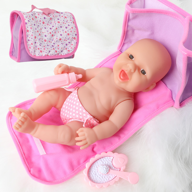 14inch Full Body Silicone Bebe Reborn Doll Handbag Outfit Waterproof Boneca 36cm Realistic Newborn Baby Doll For Toys Girl Gift