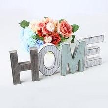 Amor/casa carta casa artigos de decoração de porta multi-colorido artesanato criativo estilo de madeira país antiguidade decoração de casa