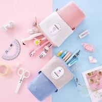 2020  Pencil Case  Flexible Big Pencilcase Pencil Bag Cat Fabric Quality School Supplies Stationery Gift School Cute Pencil Box