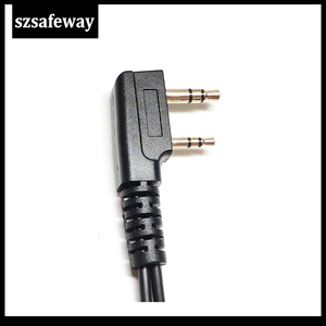 Image 5 - 10PCS/LOT Quality 2 PIN Earpiece For Kenwood Two Way Radio Headset D Earhook  PPT And Mic For Walkie Talkie For Baofeng UV 5R