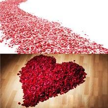 1000/3000 pçs flor artificial rosa pétalas falsas pétalas decoração de casamento valentine suprimentos festa de casamento acessórios 5*5cm 50%