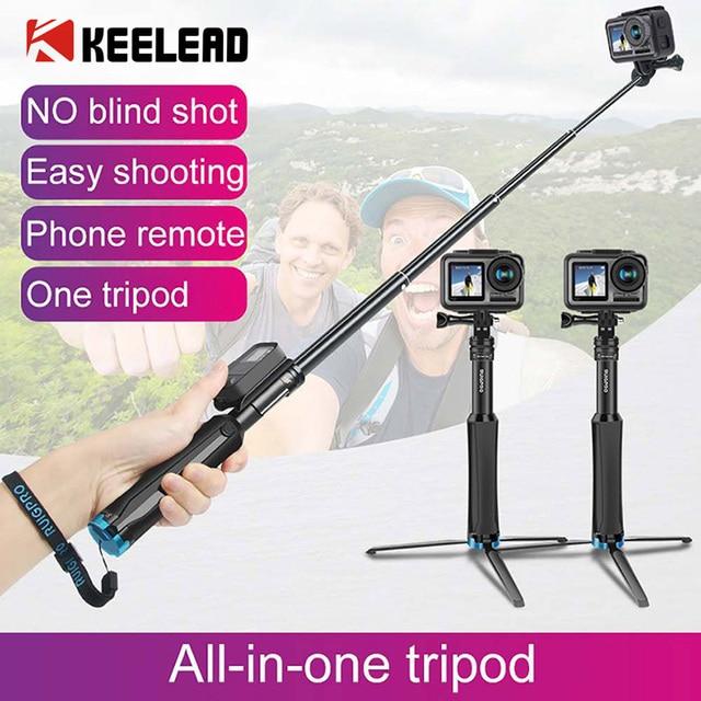 Ruigpro Multi Functionele All In One Aluminium Universele Statief Handheld Monopod Voor Gopro 7 Dji Osmo Action camera Smartphone