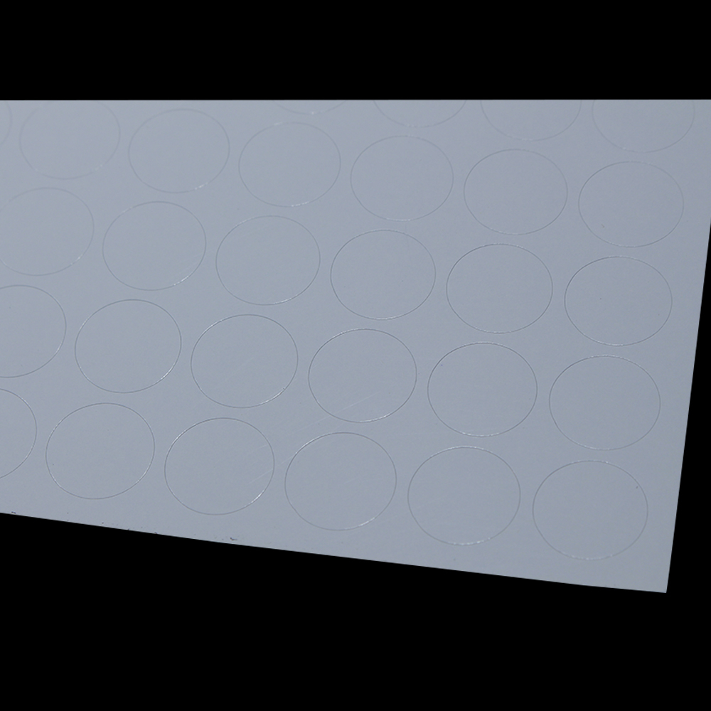DHL 51000 pièces/lot auto adhésif étiquette impression papier 204 pièces/feuille brillant blanc diamètre 1.5cm rond étiquette A4 Kraft papier