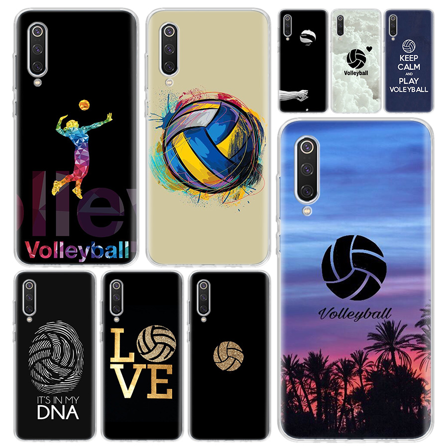 Volleyball Sports Phone Case Cover For Xiaomi Redmi Note 9S 8T 8 8A 7 7A 6 6A 5 10 K20 S2 K30 Pro Mi CC9 8 9 5X 6X Lite + image