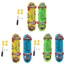 2 шт. светодиодный мини-скейтборд гриф Tech двухслойные детские игрушки подарки Детские игрушки
