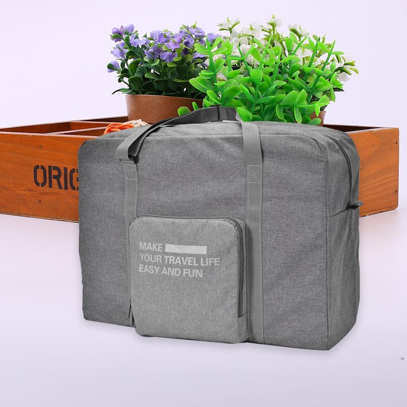 Portable Travelling Bag Foldable Waterproof Travel Bags Handbag Luggage Man-Carried Canvas Large Capacity