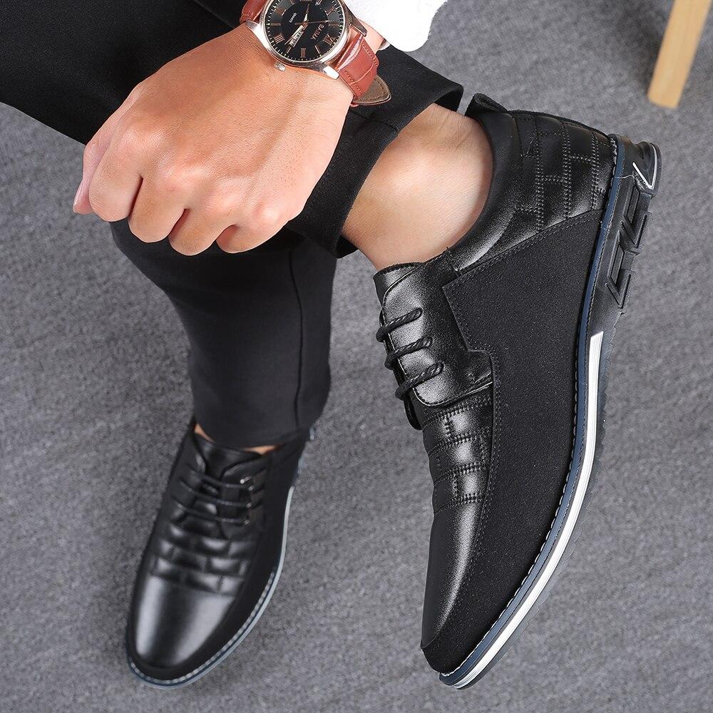 H3b2c71690f5e4b55b7bb22b84594fc3ae 2019 New Big Size 38-48 Oxfords Leather Men Shoes Fashion Casual Slip On Formal Business Wedding Dress Shoes Men Drop Shipping