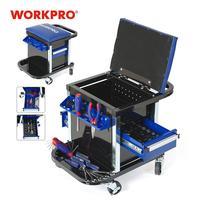 WORKPRO 135 قطعة مجموعة أدوات المنقولة منضدة مقعد سيارة أداة إصلاح البراز-في مجموعات أدوات يدوية من أدوات على