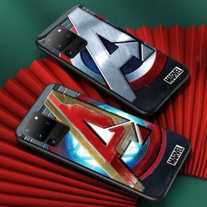 Image 3 - Marvel logo for Samsung S20 FE Ultra Plus A91 A81 A71 A51 A41 A31 A21S A72 A52 A42 A02S Soft Black Phone Case