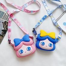 Lovely Children Mini Coin Purse Messenger Bag Fashion Monedero Princess Cartoon Baby Girls Handbags Kids Shoulder Cross Body Bag