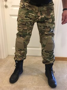 Image 4 - Camouflage Military Tactical Pants Army Military Uniform Trousers Airsoft Paintball Combat Cargo Pants With Knee Pads