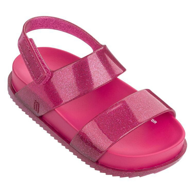 New Girls Summer PVC Sandal Fashion Mini Melissa Roma Jelly Shoes Plain Color Children Candy Saldal High Quality Shoes HMI002
