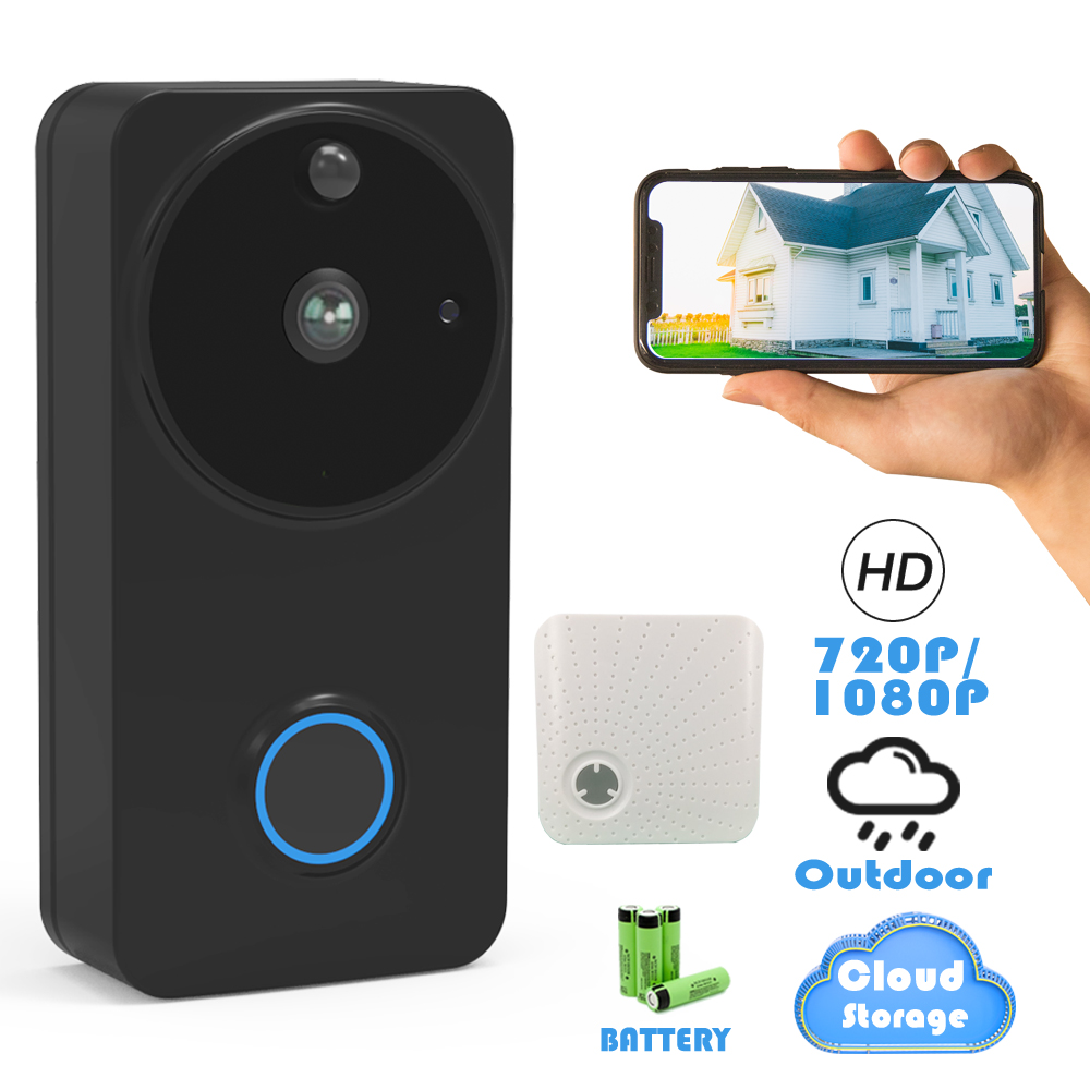 CTVMAN 1080P/720P Outdoor Wireless Wifi Smart Video Doorbell Camera IP Intercom Door Phone Bell Waterproof Security Doorphone