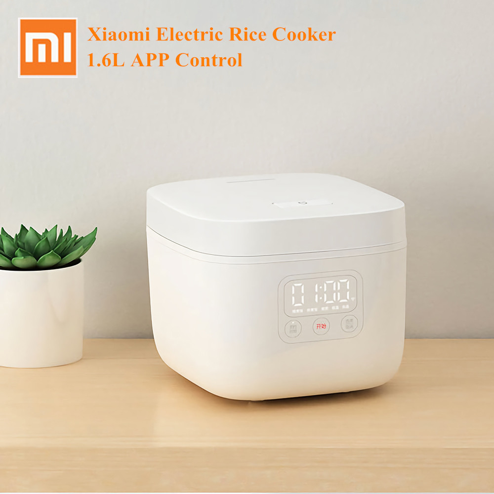 Xiaomi Mijia Electric Rice Cooker 1.6L Smart Home Alloy Cast Iron LED Screen Cooker Multicooker Kitchen Cooking Tool APP Control