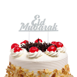 Image 3 - 1PC Eid Mubarak Cake Toppers DIY Cupcake Topper Cake Flags Kids Birthday Wedding Bride Party Ramadan Muslim Eid Baking Decor