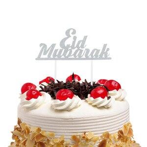Image 3 - Decoración Para tarta de Mubarak Eid, decoración para tartas de Magdalena DIY, banderas para pastel, cumpleaños para niños, para novia para fiesta de casamiento, Eid musulmán de Ramadán, 1 ud.