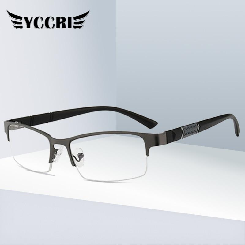 2020 Anti Blue Reading Glasses For Men Half-frame Diopter Glasses Business Male Presbyopic Eyeglasses  Lentes De Lectura Mujer