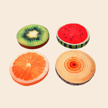 Simanfei Round Seat Cushion Fruit Backrest Office Napping Pillow Soft Plush Floor Pouf Decorative Back Chair
