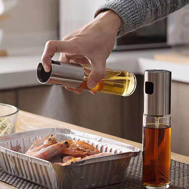 Kitchen Baking Oil Cook Oil Spray Empty Bottle Vinegar Bottle Oil Dispenser Cooking Tool Salad BBQ Cooking Glass  Oil sprayer