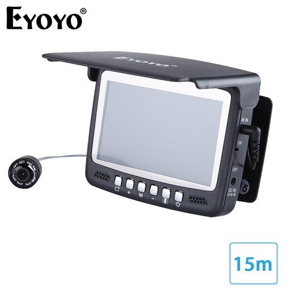 Eyoyo 15 м 30 м рыболокатор подводный 1000TVL лед рыбалка видео запись камера DVR 8 инфракрасный светодиодный - Цвет: 15M Cable NO DVR