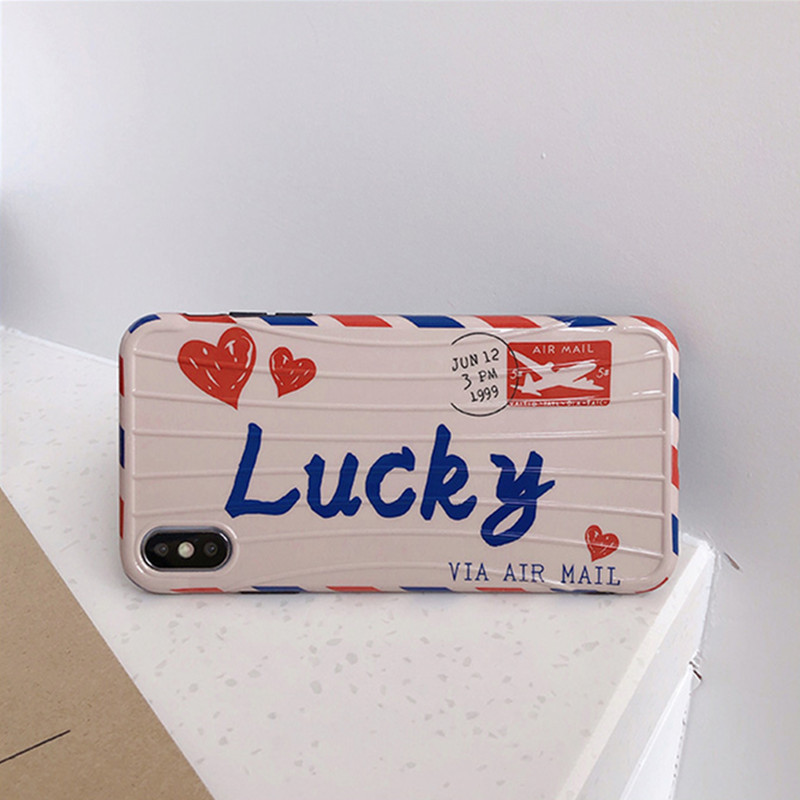 Lucky Postcard Phone Case Silicone Cover For iPhone cover 11 Pro Max X XS XR coque 6 6s Plus 7 8 8Plus Soft TPU Fashion case