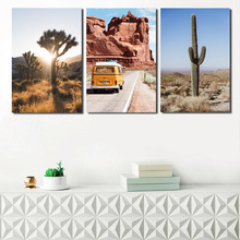 Desert Cactus Tree Nature Landscape Wall Art Canvas Minimalist Nordic Posters Prints Painting Pictures Bedroom Home Decor