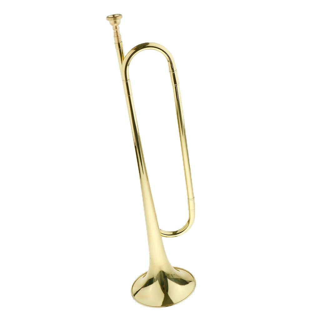 Ретро кавалерия труба Стеклярус Рог латунный инструмент с флагом перчатки