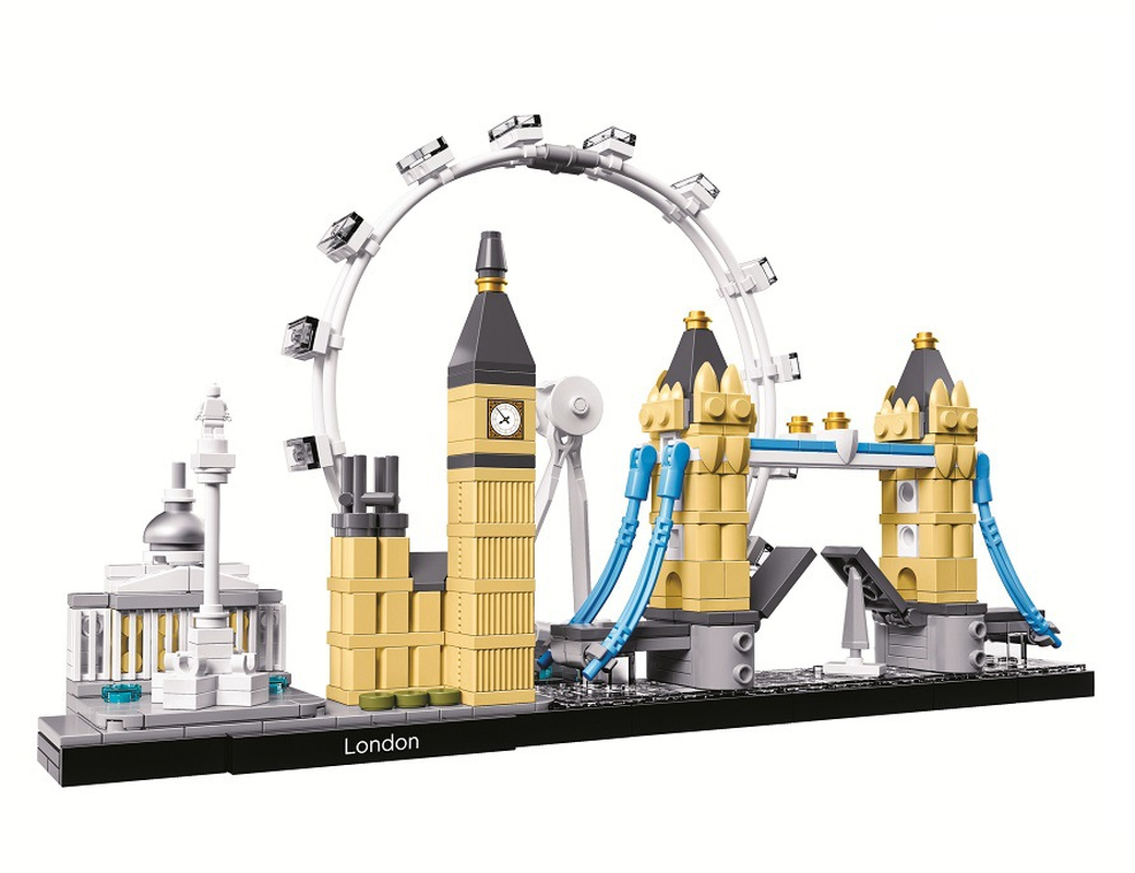 Bela 10678 Architecture Building Set London Big Ben Tower Bridge Model Building Block Bricks Toys Lepining(China)