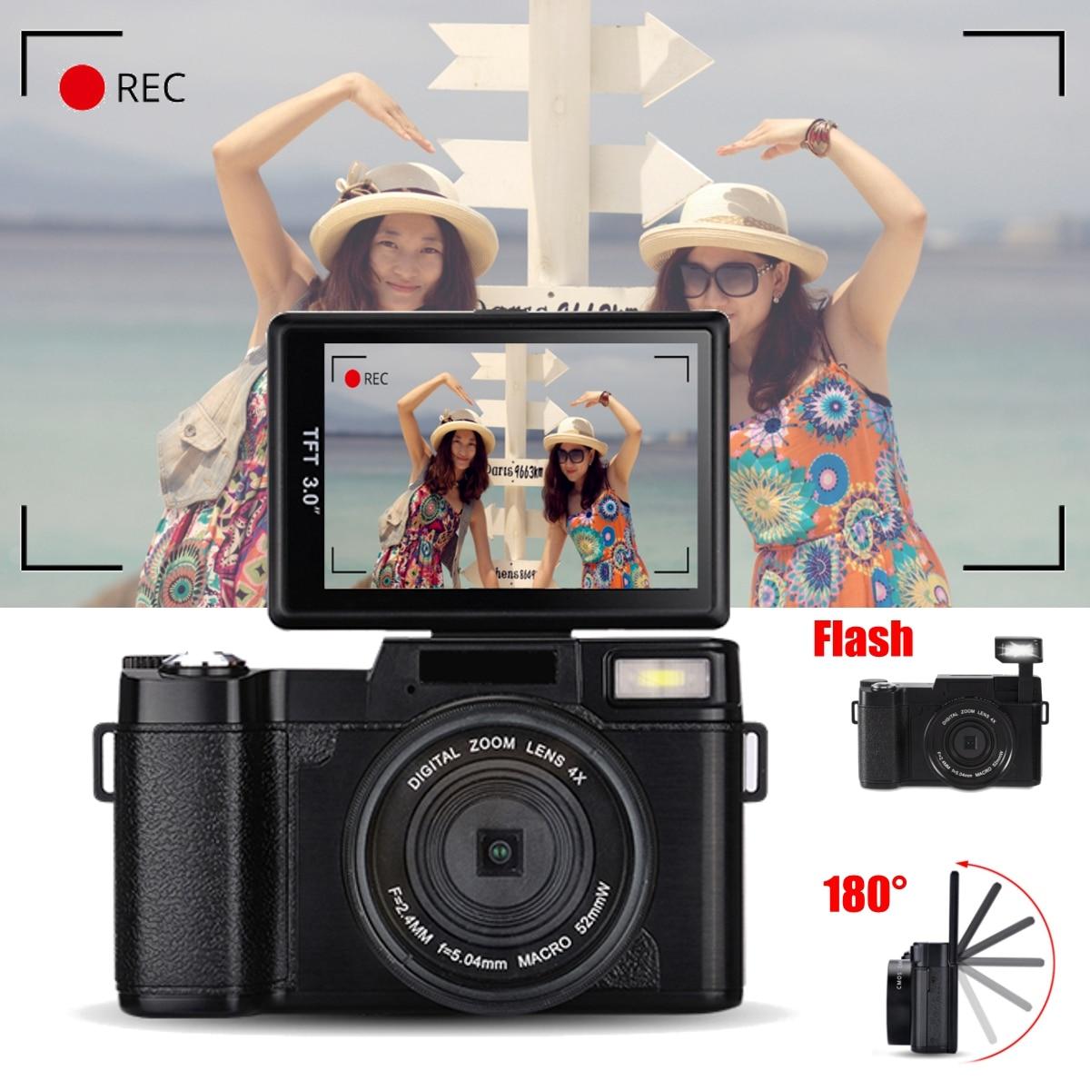 Новая Vlog цифровая камера Full HD 1080P профессиональная видеокамера Vlogging Камера 8,0 МП CMOS Max 24MP|Любительские видеокамеры|   | АлиЭкспресс