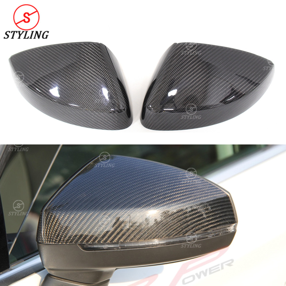 RS3 Dry Carbon mirror cover For Audi A3 S3 Rear Side View Mirror Cover Without & With Lane Assist 2014 2015 2016 2017 2018 2019