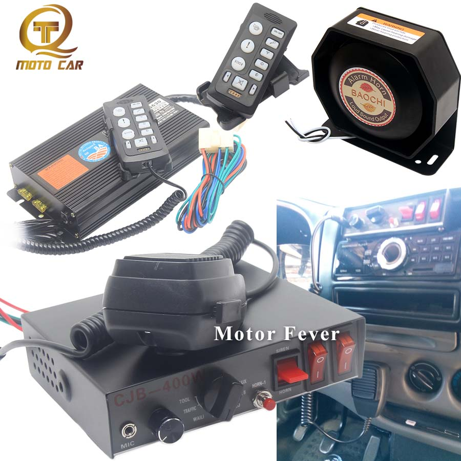 Universal Super Loud Car Horn Tone Speaker 200W 400W Warning Sound 12V for Vehicle Police Siren Loudspeaker for boat Train Truck