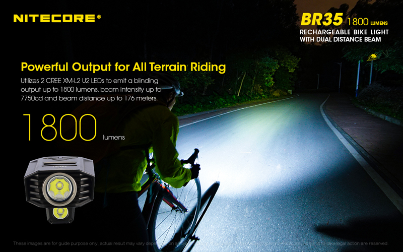 Nitecore BR35 1800 Lumens Rechargeable Bike Bicycle Front Light (2)