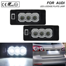 цена на 2x Error Free LED License Plate Light Lamp Car Accessories For VW-Touran-GP2-2011-Sharan-7N-2011-Jetta-2011