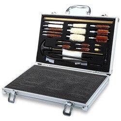 Universal kit de limpeza arma para rifle pistola pistola pistola pistola shotgun profissional conjunto de limpeza arma ferramenta escova caça acessórios