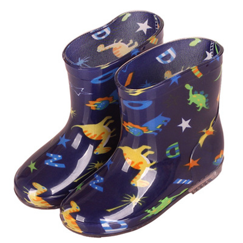 New Arrival Children Rain Boots Soft Waterproof Outdoor PVC Rubber Boots Baby Boy Girl Toddler Ankle Water Boots Kids Shoes 06A