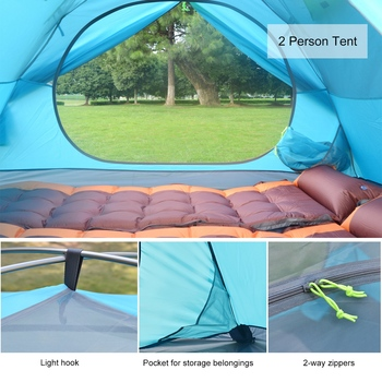 Desert&Fox Backpacking Camping Tent, Lightweight 1-3 Person Tent Double Layer Waterproof Portable Aluminum Poles Travel Tents 3