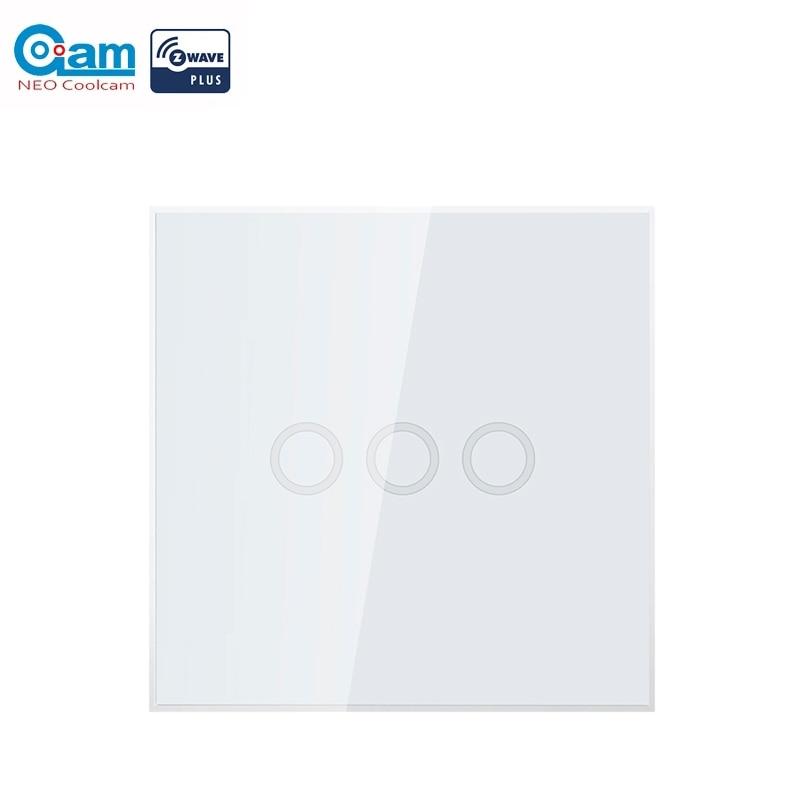 NEO Coolcam Z-Welle Plus 3CH EU 868,4 MHZ Smart Touch Wand Licht Schalter Zwave Hub Erforderlich Compatiable Mit smartthings Fibaro