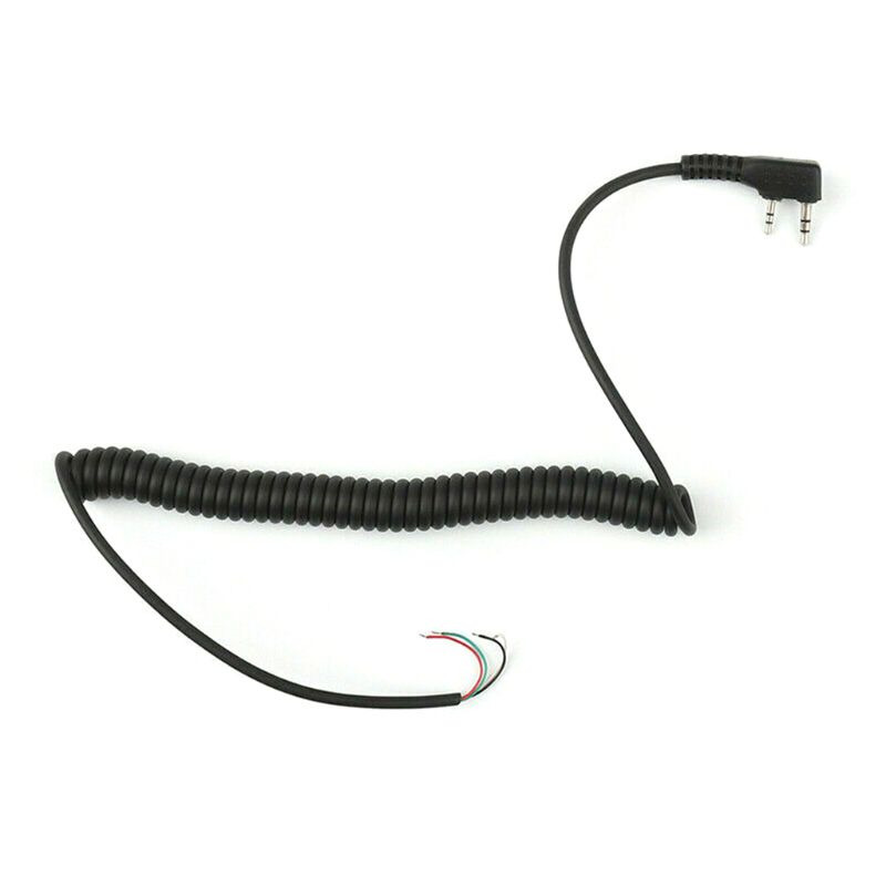 2 Pin 4-Wire Speaker Mic Cable For Baofeng UV5R TK370 YTY Walkie Talkie For North Peak For Quansheng For Motorola