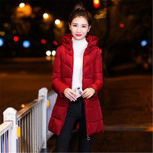 In the long section of cotton women 2019 winter new fashion new women's cotton clothing loose hooded winter clothes