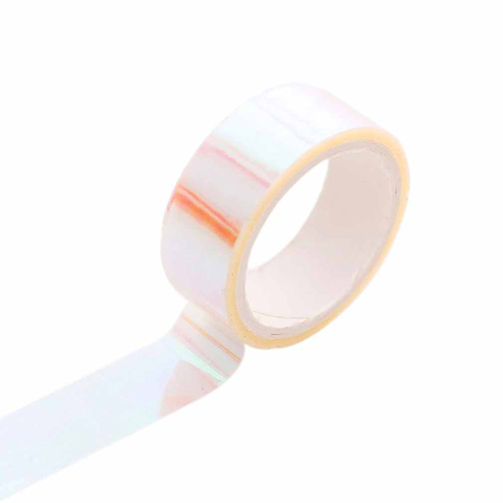Creative Rainbow Film Laser Tape Craft Paper Tape for Decorative Scrapbooking Bullet Journal Planner Hand Tape