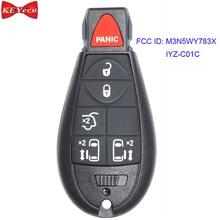 KEYECU для Chrysler город и страна для Dodge Grand Caravan дистанционный ключ-брелок от машины 433 МГц ID46 чип FCC ID: M3N5WY783X, IYZ-C01C