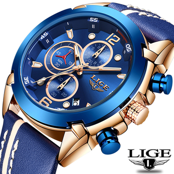 2020 Activity LIGE Fashion Men Watch Top Brand Luxury 30ATM Waterproof Sport Chronograph Quartz Relogio Masculino - discount item  90% OFF Men's Watches