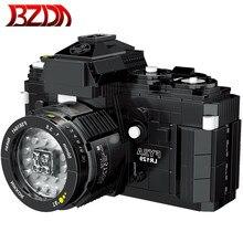 Bzda 627 pçs câmera digital entusiastas coleção fy2a slr câmera blocos de construção moc modelo de construção conjunto tijolos brinquedos presentes