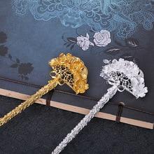 Ретро Классические антикварные ювелирные изделия Сплав сохранение цвета Руки DIY палочки для волос cheongsam с шаговым встряхиванием Han шпилька