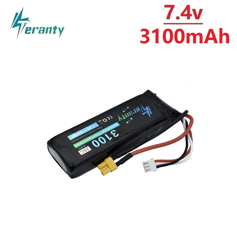 Upgrade 7.4V 3100mAh Lipo Battery For MJX Bugs 3 B3 RC Quadcopter Spare Parts 2s 7.4v Rechargeable Battery Upgrade 2700mah 35C